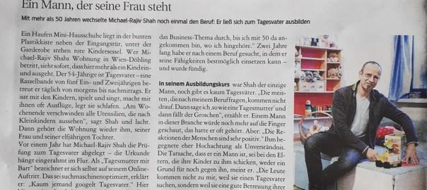Tagesmutter mit Bart in Wien - im Interview beim Kurier